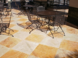 Desert Gold and Ivory Paver combination.