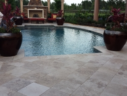 Tumbled Paver Pool Deck