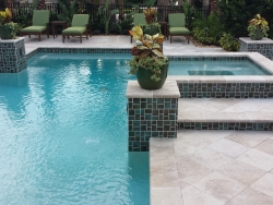 Noce Roman Tumbled Paver Pool Deck