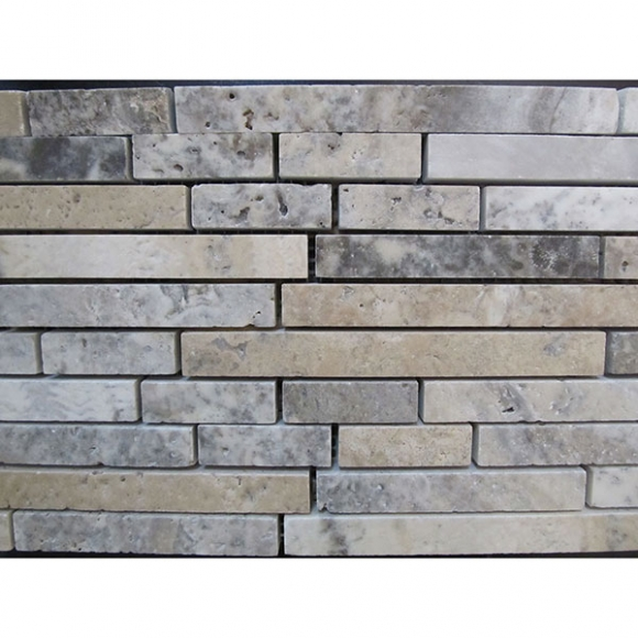 1/2x FREE SILVER Travertine MOSAIC