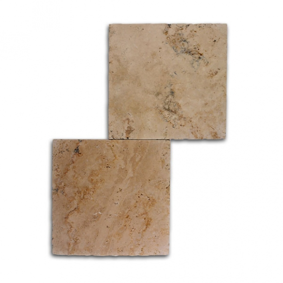 12x12 Country Classic Select Tumbled Travertine Paver