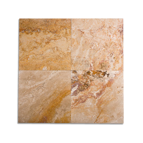 12x12 Autumn Blend Filled Honed Travertine Tile