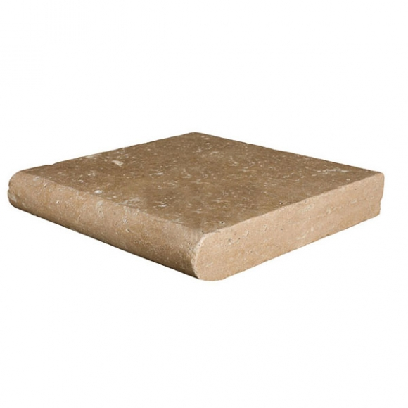 12x24x2 Noce Select Tumbled Travertine Thick Coping