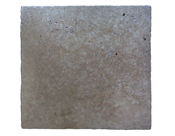 16x16 Roman Blend Walnut Select Tumbled Travertine Paver