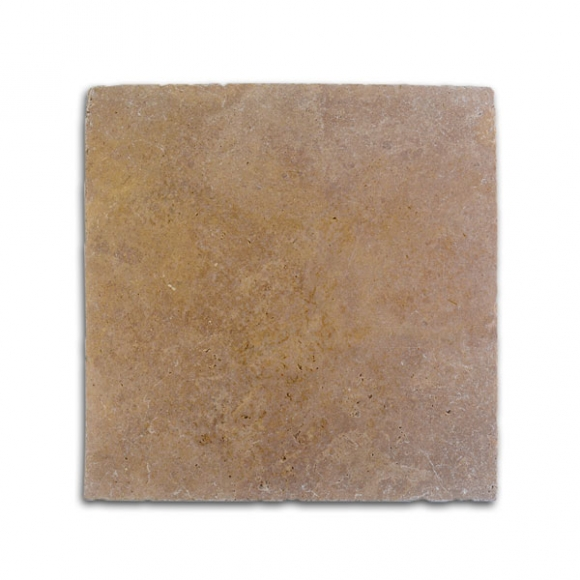 16x16 Royal Noce Select Tumbled Travertine Paver