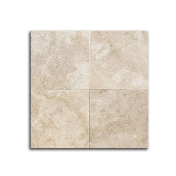 Navona Light Brushed Chiseled Travertine Tile