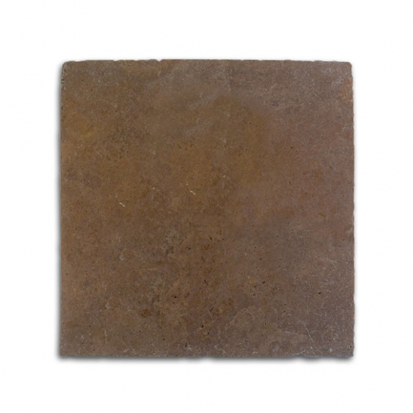 24x24 Royal Noce Dark Select Tumbled Travertine Paver