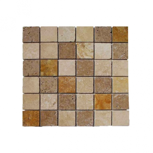 Travertine Mosaic Tiles Tumbled Polished Split Face Tiles