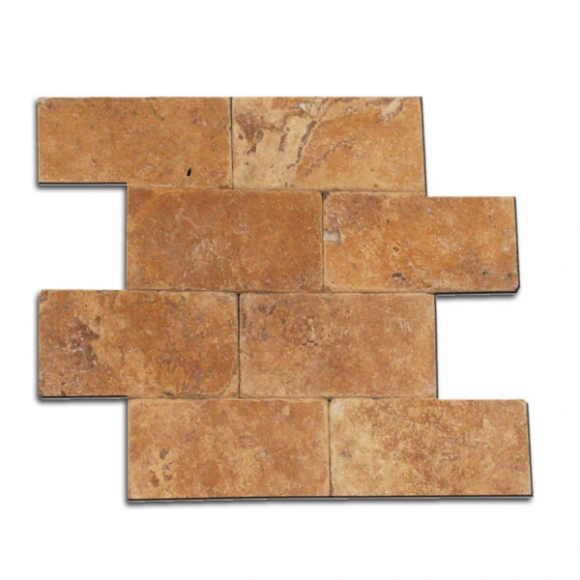 3x6 Gold Tumbled Tile