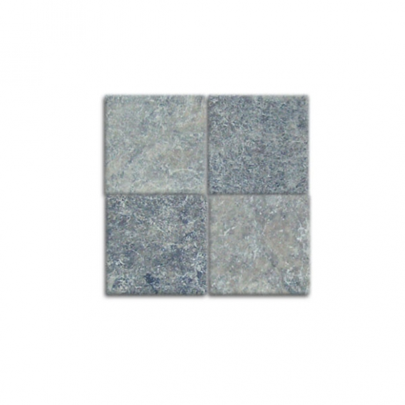 4x4 Silver Tumbled Tile