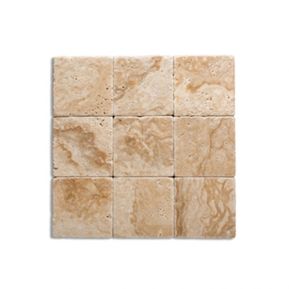 4x4 medium river tumbled Tile