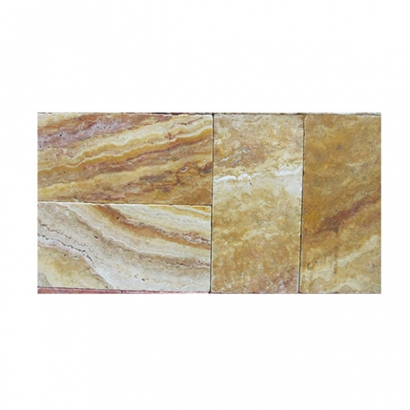 6x12 Autumn Blend Select Tumbled Travertine Paver
