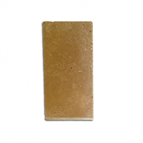 6x12 Noce Select Tumbled Travertine Coping