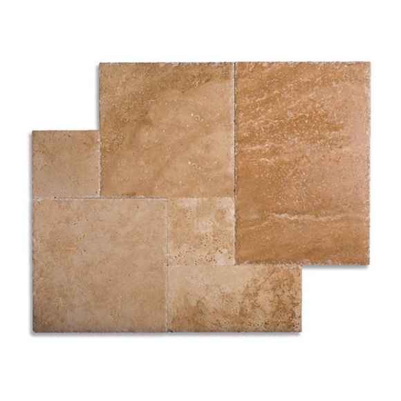 French Pattern Roman Blend Brushed-Chiseled Tile