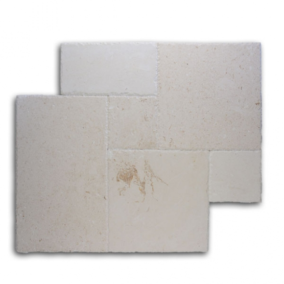 French Pattern Shell Stone Brushed-Chiseled Tile