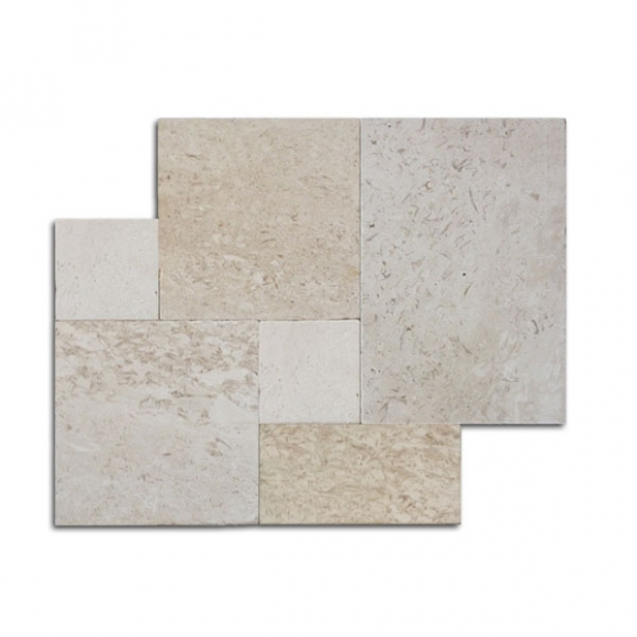 French Pattern Shell Stone Tumbled Pavers