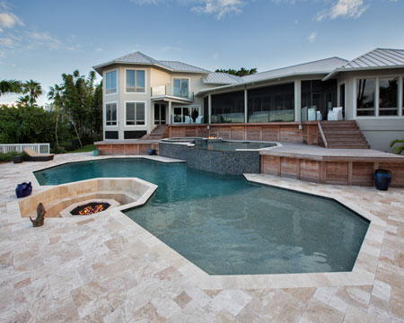 Medium River Travertine Pavers