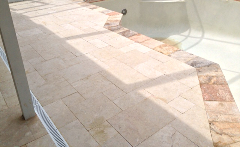 Marble Pool Decks Magnificent Marble Pool Deck  Tumbled Marble Pool Pavers  Travertine Warehouse