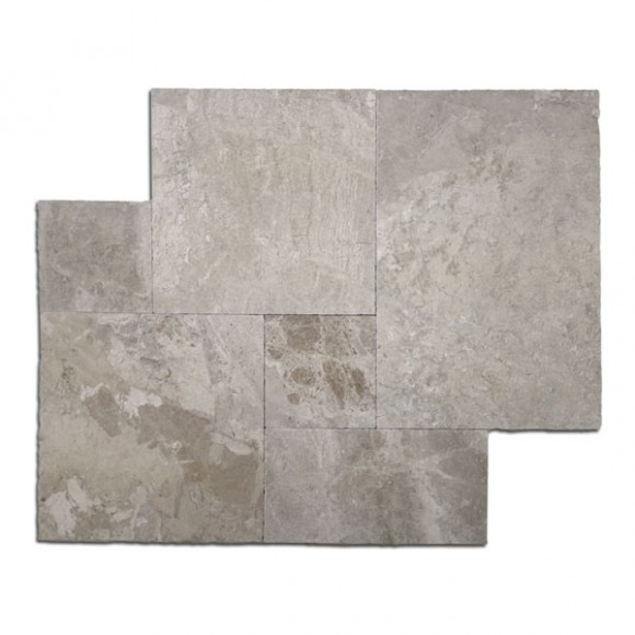 French Pattern Diana Royal Tumbled Marble Pavers