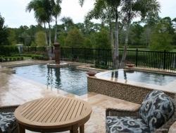 Travertine Pool Deck