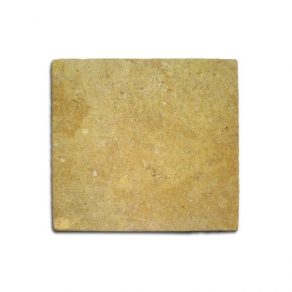12X12 DESERT GOLD Tumbled Travertine TILE