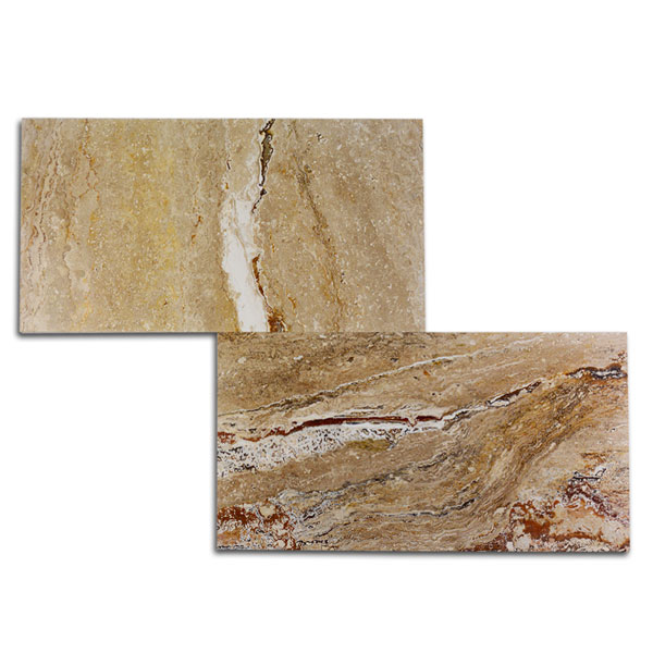 Ivory Light Honed Filled Travertine Tiles 18x18: 12x24 Leonardo Polished-Filled Travertine Tile