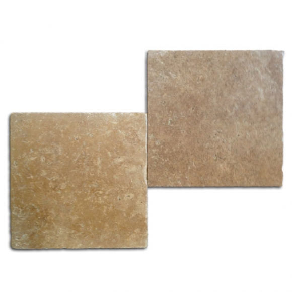 12x12 Roman Blend Select Tumbled Travertine Paver