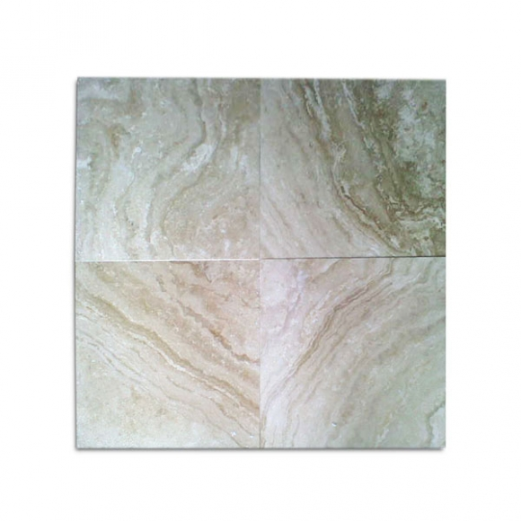 Medium River Honed and Filled Travertine Tiles
