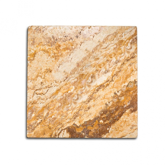 16x16 Gold Antique Tumbled Travertine Paver