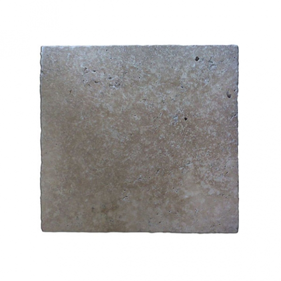 16x16 Ivory Cream Select Tumbled Travertine Paver