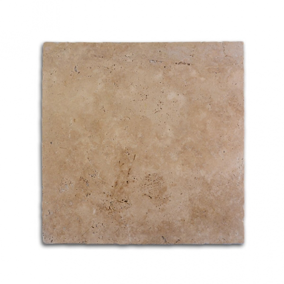 16x16 Ivory Select Tumbled Travertine Paver
