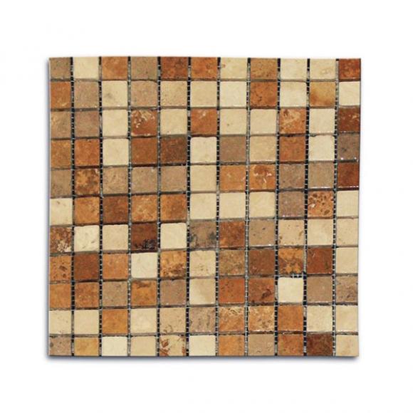 1x1-Mix-Multi-Color-Tumbled-Travertine-Mosaic
