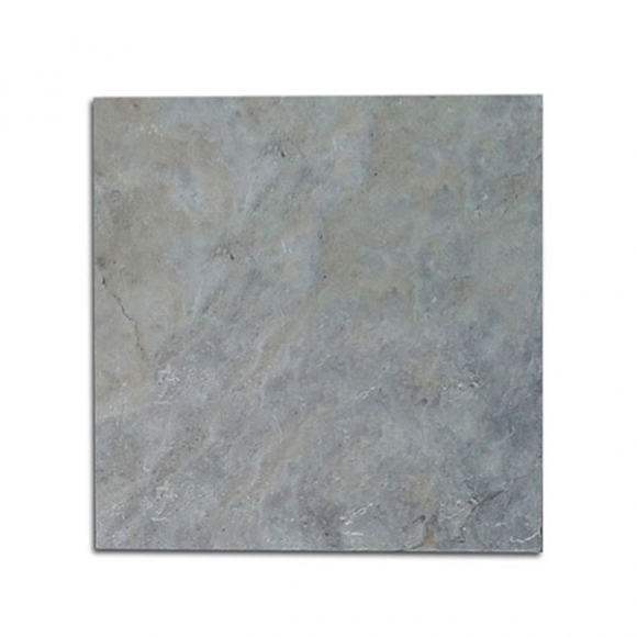 24x24 Silver Select Tumbled Travertine Paver