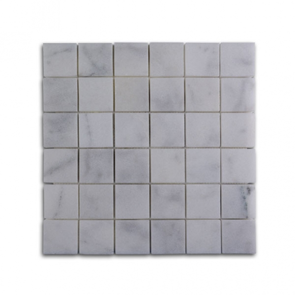 2x2 White Pearl Polished Mosaic Tile