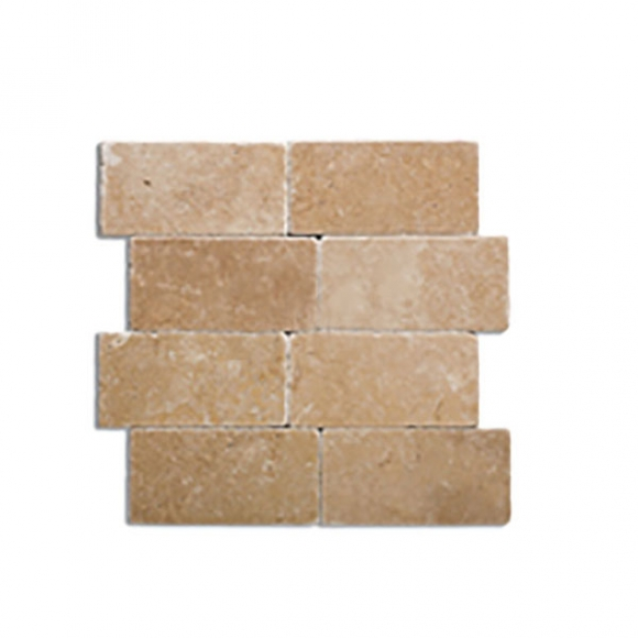 3X6 NOCE Tumbled Travertine TILE