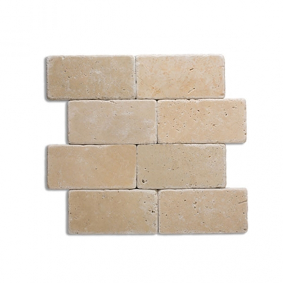 3x6 ivory tumbled tiles