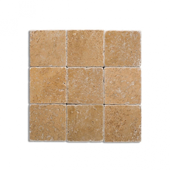 4X4 NOCE Tumbled Travertine Tile