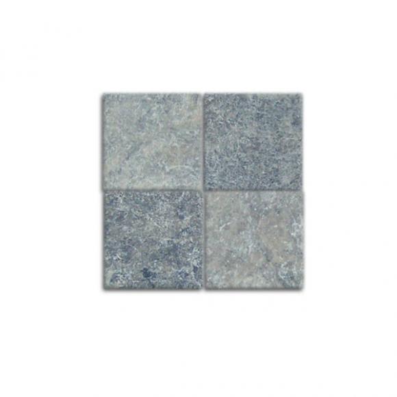 4x4 Silver Tumbled Tile