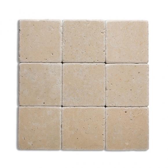 4x4 ivory tumbled tiles
