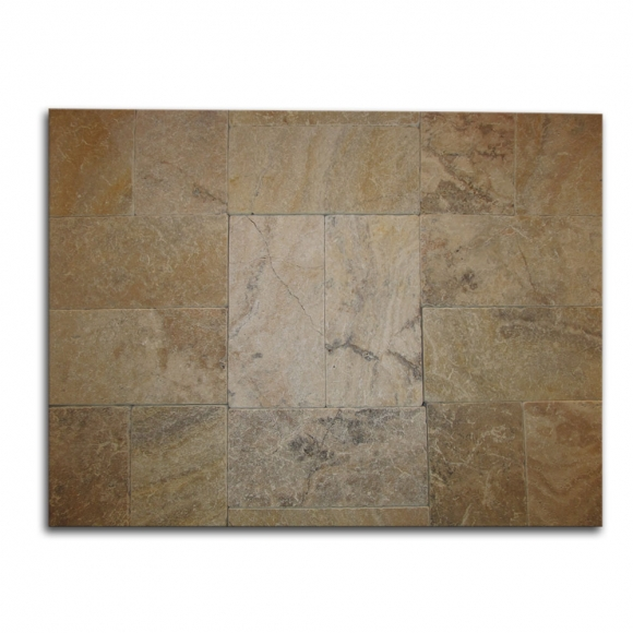 6x12 Cappadocia-Scabos Select Tumbled Travertine Paver