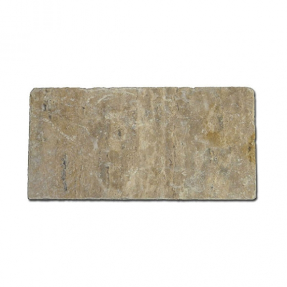 6x12 Philadelphia Tumbled Travertine Paver