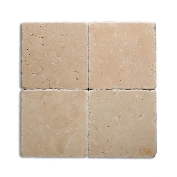8x8 Ivory Select Tumbled Travertine Paver