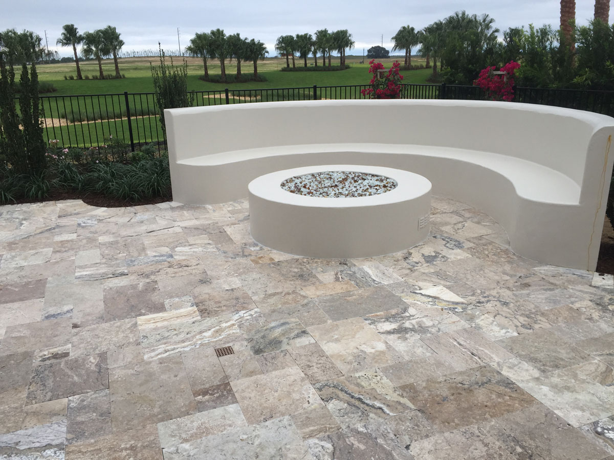 French Pattern Roman Blend Walnut Select Tumbled Paver ... on Travertine Patio Ideas id=70720