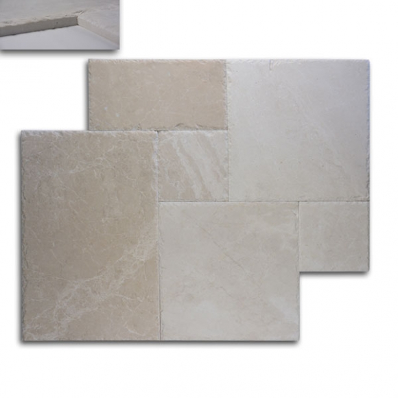 French Pattern Ephesus Marble Brushed Chiseled Tile