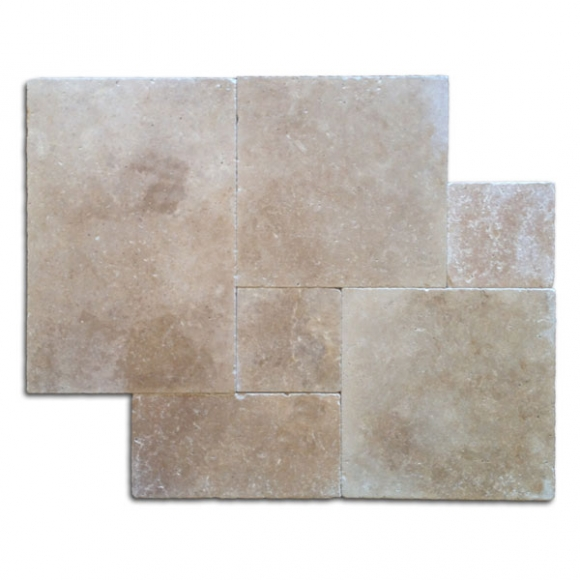French Pattern Roman Blend Walnut Select Tumbled Paver