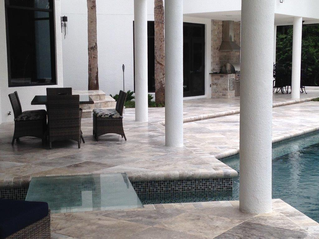 Pool Coping Travertine Marble