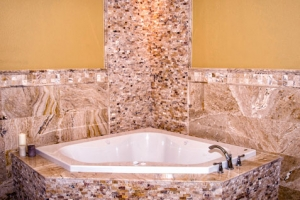 Leonardo Travertine Splitface Mosaic Mosaics