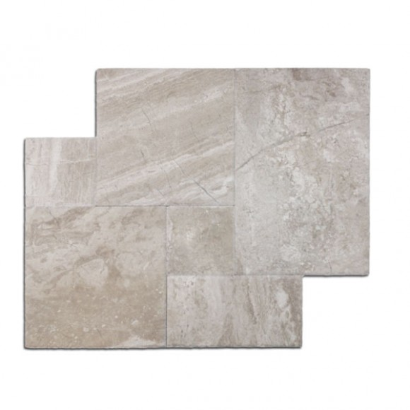 French Pattern Diana Royal Brushed and Chiseled Marble Tile1
