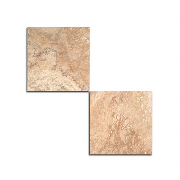 18×18 Medium River Honed and Filled Travertine Tile