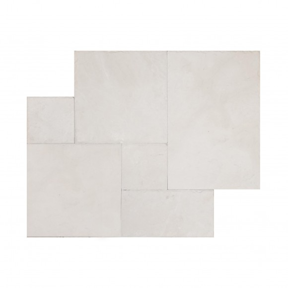 French Pattern ANATOLIAN CREAM Brushed-CHISELED Marble Tile